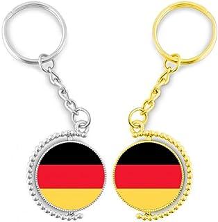 DIYthinker Duitsland vlag National Europa ring metaal goud sleutelhanger