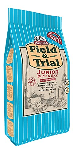 Skinner's Field & Trial Puppy & Junior Duck & Rice 2.5kg – Complete Dry Dog Food, Sensitive, Supports Gut Health, With Added Omega 3