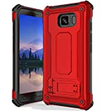 Anccer Armor Series for Samsung Galaxy S6 Active Case with Kickstand Anti Shock Dual Layer Anti Fingerprint Protective Cover for Galaxy S6 Active (Not Fit for Galaxy S6) - Red