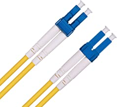 LC to LC Fibre Patch Cable 3m, OS1/OS2 Leads Single Mode Duplex 9/125 Fiber Optic Cable (LSZH) for 10Gb/Gigabit SFP Transceiver