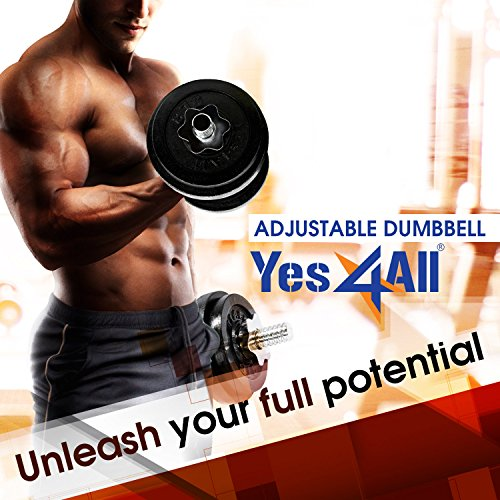Product Image 6: Yes4All Adjustable Dumbbells – 52.5 lb Dumbbell Weights (Single)