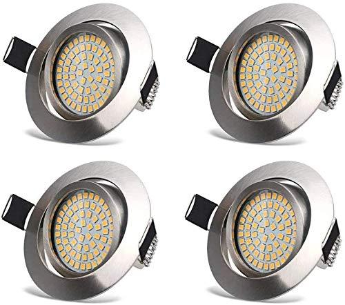 Faretti LED Incasso 3.5W Luci da Incasso Cartongesso Plafoniere LED Soffitto Orientabile con Porti Luce Bianco Caldo 3000K,400LM,AC 230V (4 Confezione)