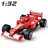 HWGDC Maquetas de Coches 1:32 Diecast Alloy Toy Car Vehicles Formula 1 Pull Back F1 Sports Racing Simulation Model Car Toys-Rojo