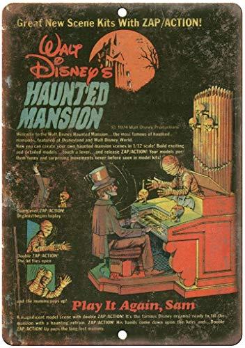 Walt Disney's Haunted Mansion Comic Book Targhe Cartello Targa in Metallo Retro Decorazione della Parete per Negozio Garage Casa Giardino Bar Caffetteria Ristorante Hotel