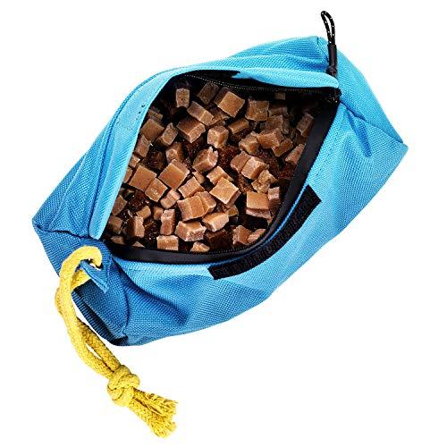 Petgold Futterbeutel für Hunde – Futtertasche Hundetraining 18 x 7 cm – waschbarer Apportierdummy Trainingsdummy zur Hundeerziehung