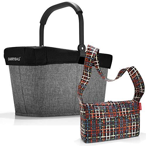 reisenthel Einkaufskorb carrybag plus cover plus case 2 Einkaufskorb Einkaufstasche Einkaufsset (twist silver)