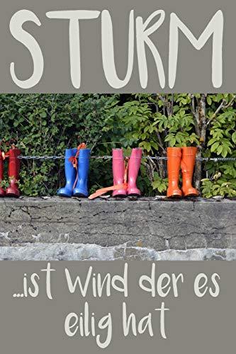 STURM – ist Wind der es eilig hat: A5 Wettertagebuch mit Icons & Platz für besondere Ereignisse | 52 Wochen – 365 Tage | Softcover