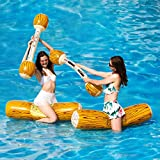 MYYAGEW 2 Pcs Package Inflatable Floating Water Toys Aerated Battle Logs, Adult Children Pool Party Water...