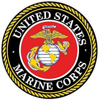 NI925 2-Pack Marine Corps Decal Sticker | 4-Inch Premium Quality Decal Sticker | USMC Decal | US Marines