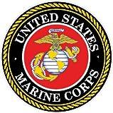 NI925 2-Pack Marine Corps Decal Sticker | 4-Inch Premium Quality Decal Sticker | USMC Decal | US Marines