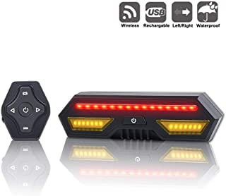 Panapo Bike Tail Light with Turn Signals-Wireless Remote Control Waterproof Bicycle Taillight-USB Rechargeable Ultra Bright Safety Warning Bike Brake Rear Lights-Easy Installation