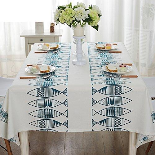 TRE Tissu de Méditerranée orientale/Du petit poisson salon élégant et minimaliste table basse tissu/nappes/tissu contenu effacé -B 140x200cm(55x79inch)