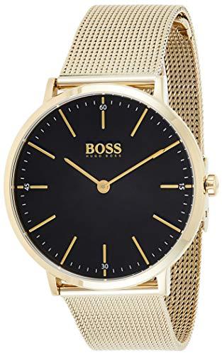 Hugo Boss Herren Analog Quartz Uhr mit Edelstahl Armband 1513735