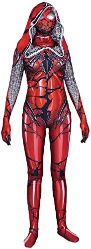 YIWANGO Adulte Enfant Classique Spider Man Fête DéguiseHommest Hero HalFaibleeen Cosplay DéguiseHommest,rouge-XXXL