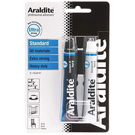 Araldite Ultra Strong Adhesive Glue Blue Standard 2 X 15ml Tubes Amazon Co Uk Diy Tools