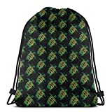 BXBX Plegable Bags Sea Turtle () Drawstring Backpack Bags Tote Sack Cinch Bag String Backpack for Gym Traveling