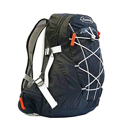 Setmil - Mochila de Trekking Dynamic 25 litros Negra - Mochila Impermeable de Senderismo, Alpinismo y Montañismo para Ruta o Viaje.