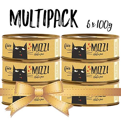 seit 1893 Bubeck Katzenfutter getreidefrei | Huhn Pur | hochwertiges Katzenfutter | 6 x 100g | Katzennassfutter Adult | hoher Fleischanteil