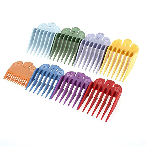 Juego de peines guía profesional de 8 tamaños, accesorios de corte de pelo para uso profesional, ideal para la mayoría de los tamaños de cortadoras Wahl