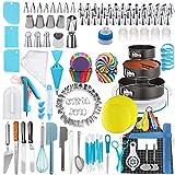 458pcs Kit de decoración de la torta - torta de DIY espátulas adorna las herramientas de bricolaje Accesorios de pastelería con la torta de la placa giratoria de la torta Más Accesorios bricolaje