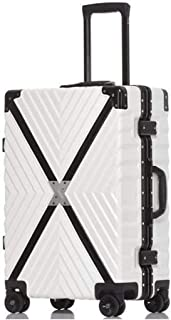 A-Lncie Trolley Suitcase Silent Caster Simple Fashion Light Luggage Universal Wheel Student Trolley Case Suitcase Unisex (Color : White)
