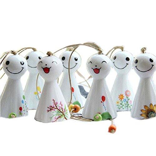 Blancho 7 Stücke Keramik Wind Glocken Japanischen Sunny Puppen Garten Chimes Zufällige Stil Geschenk