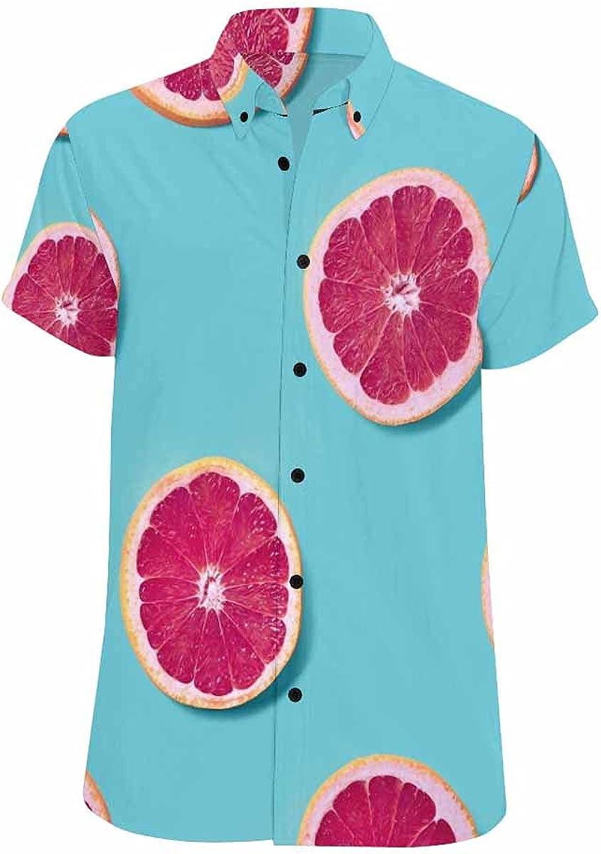 InterestPrint 4 years warranty Fried Potatoes Hawaiian Looser Sh Summer Shirt Fit quality assurance