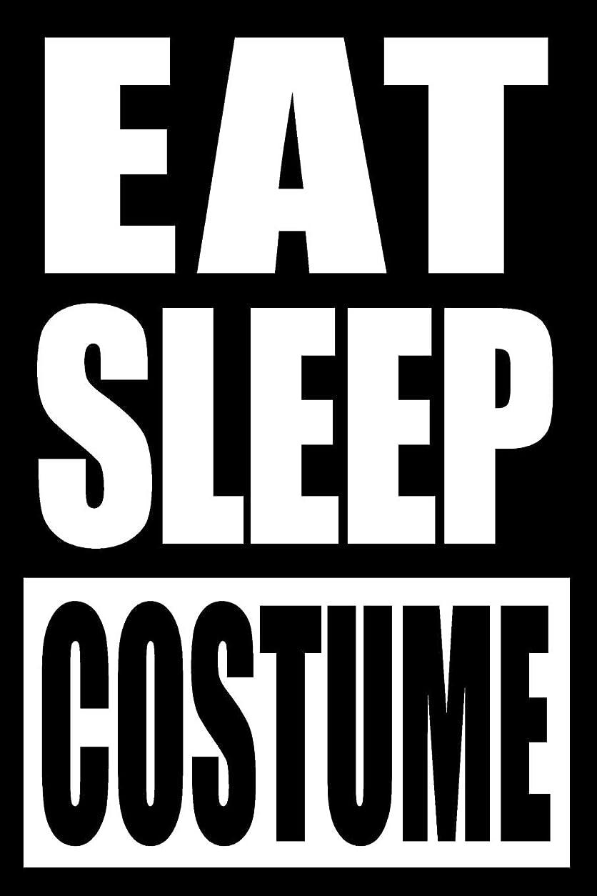 繊細慎重に神学校Eat Sleep Costume | Notebook for a Cosplayer, Medium Ruled Journal
