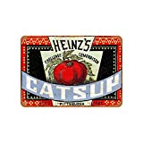 Heinz'S Catsup Vintage Aluminum Metal Signs Tin Plaques Wall Poster For Garage Man Cave Cafee Bar Pub Club Shop Outdoor Home Decoration 12'x8'