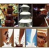 DIOE DIY Hauptschokoladenfondue, Minischokoladenbrunnen, dreischichtige Edelstahlschokoladen-Wasserfall-Maschine, Höhe 23.5CM, Schwarz - 6