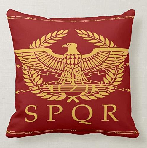 Pillow pillow Cuscino Personalizzato 40X40 SPQR Roma Antica Impero Aquila Imperiale LEGIONE Roma - 3 Divano Arredamento Idea Regalo
