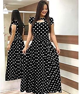 Elegant autumn Women's Dress 2020 Casual Bohemia Flower Print Maxi Dresses Fashion Hollow Out Tunic Dress Plus Size 5XL brand:TONWIN (Color : F short, Size : 5XL)