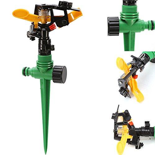Tookie - 4 aspersores de Jardín Impulse, automático, Giratorio de 360 Grados, riego, riego, espray, Césped Circular, aspersores con estaca
