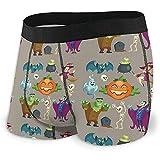 Web--ster Ropa Interior Transpirable para Hombres Personajes de Halloween Calzoncillos cómodos de Vacaciones de Octubre Talla XL