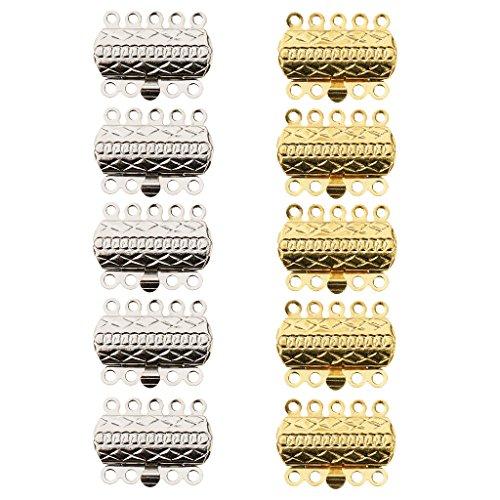 Sharplace 10 Pedazos de Múltiples Tubo Magnético Broches de Cobre de Latón para Abalorios Pulseras