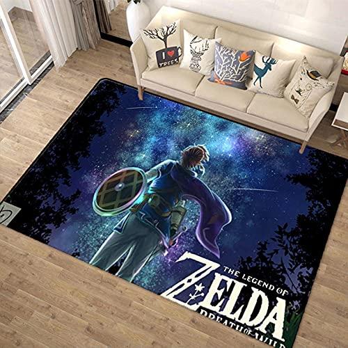 HoodieBBQ Alfombra The Legend of Zelda Anime Alfombra Alfombra Sala De Estar Dormitorio Habitación Habitación De Los Niños Guardarropa Alfombra del Piso para Gatear 160X230CM-A_40x60cm