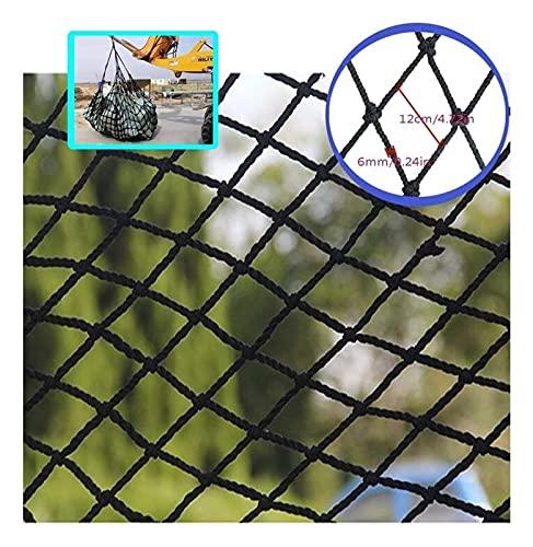 Lanrui Juguetes Mascotas Piedra Protectora Escalada Cuerda Tejido Camión Cargo Trailer Decoración Decoración Malla, Barandillas Escaleras Patios Balcón Playground Swing Interior Negro Red Gatos
