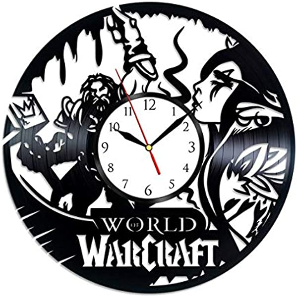 GoodIdea Art World Of Warcraft Game Vinyl Record Wall Clock World Of Warcraft Handmade For Kitchen World Of Warcraft Unique Wall Poster