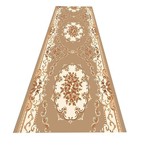 GuoWei Alfombra De Corredor Floral Tradicional, Moqueta Antideslizantes De Entrada De Pila Baja, Alfombrillas Lavables para Sala De Estar, Longitud Personalizada (Color : A, Size : 1.2x11m)