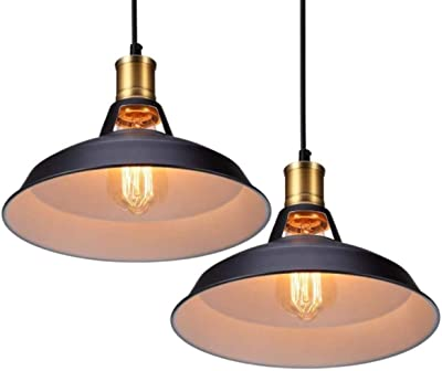 WFTD Vintage Metal Industrial Lámparas Colgantes, Vintage Techo Luces Hueco Diseño Sombra para Café Cocina