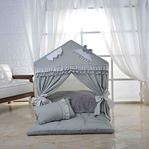 ZXL Katoen Huisdier Tent PVC Hond Huis Beugel Hele Afneembare Wasbare Huisdier Nest Comfortabele Kennel Mooie Doghouse