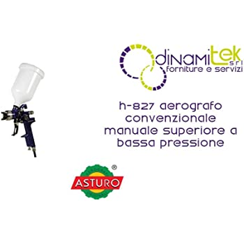 SOLO PER ASTURO - NON COMPATIBILE CON ALTRI 1.7 mm UGELLO PER AEROGRAFO MAVES ASTURO ORIGINALI H-827 H-827P 1.7mm.QUALITA ASTURO