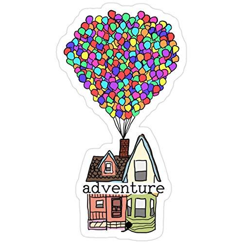 DKISEE Pegatinas Adventure is Out There - Mochila (3 piezas/paquete) - Libros de coche de 10,16 cm
