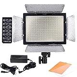 Yongnuo 600 LEDビデオライト 600球のLEDを搭載 カメラ&ビデオカメラ用 AC電源アダプター付き