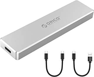 ORICO Aluminio M.2 NVMe SSD Carcasa, Ultra-Slim M-Key a USB3.1 Gen2 Tipo-C 10Gbps Disco Duro Externo, Almacenamiento hasta 2TB para Samsung 970 EVO / 970 Pro/Crucial P1 / WD Negro SN750 y más - Plata