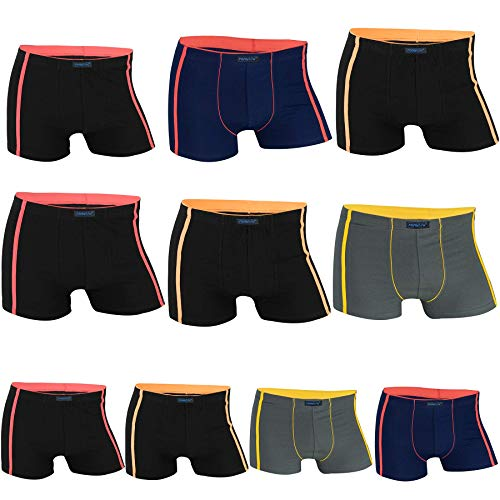 REMIXX Jungen Boxershorts Kids Pants Boys Shorts, 10er Pack (BBOX025B, L/140-146)