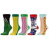 WeciBor Calcetines Estampados de las Mujeres, Mujeres Ocasionales Calcetines Divertidos Impresos de Algodón de Pintura Famosa de Arte Calcetines, Calcetines de Colores de moda (ES0051-66)
