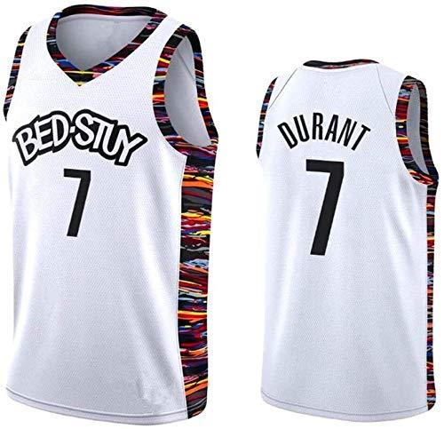 llp Durant # 7 Jersey de Baloncesto de Brooklyn para Hombres, Camisetas de Baloncesto Ropa Tank Top Entrenamiento Traje Chaleco Deportivo Camiseta (Color : White, Size : X-Large)