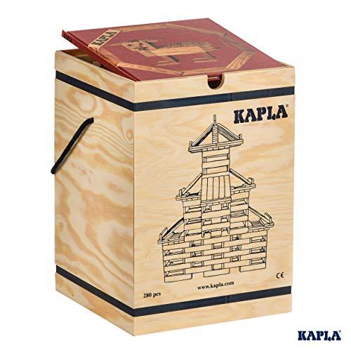 WDK Partner A1204074 Kapla - Juego de construcción (280 Bloques de Madera y 1...