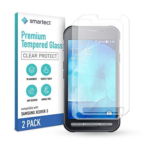 smartect Schutzglas kompatibel mit Samsung Galaxy Xcover 3 [2 Stück] - Tempered Glass mit 9H Festigkeit - Blasenfreie Schutzfolie - Anti-Kratzer Bildschirmschutzfolie